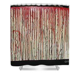 Shower Curtain featuring the painting Betrayal by Jacqueline Athmann