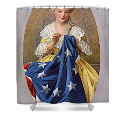 Betsy Ross, American Flag Design Shower Curtain
