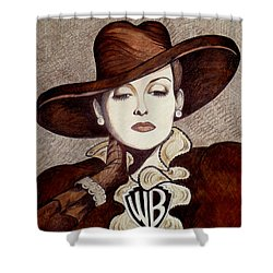Bette Davis The Warner Brothers Years Shower Curtain