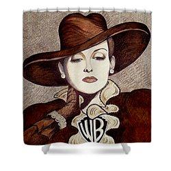 Bette Davis The Warner Brothers Years Shower Curtain by Tara Hutton