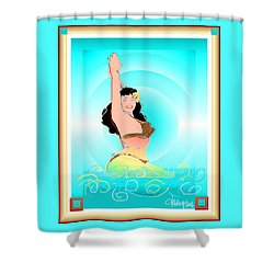 Bettie Page  Shower Curtain