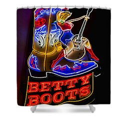 Betty Boots Shower Curtain