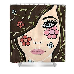 Betty - Contemporary Woman Shower Curtain