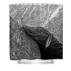 Between A Rock Shower Curtain