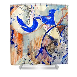 Between Branches Shower Curtain