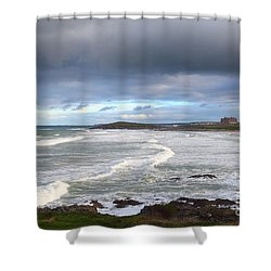 Shower Curtain featuring the photograph Between Cornish Storms 1 by Nicholas Burningham
