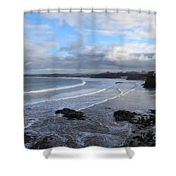 Shower Curtain featuring the photograph Between Cornish Storms 2 by Nicholas Burningham