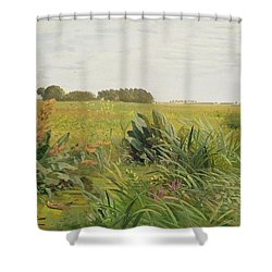 Between Geest And Marsh Shower Curtain by Valentin Ruths