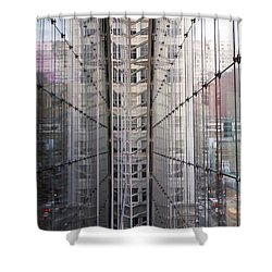 Shower Curtain featuring the photograph Between Glass Walls by Rona Black