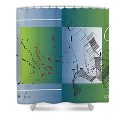 Shower Curtain featuring the digital art Between Heaven And Me by Leo Symon