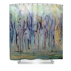 Between Horse And Men Shower Curtain