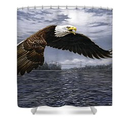 Between Nations Shower Curtain