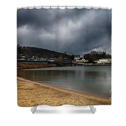 Between Raindrops Shower Curtain