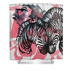 Between Stripes Shower Curtain