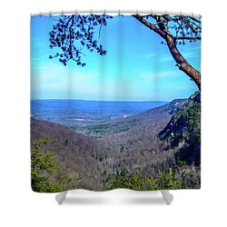 Between The Cliffs Shower Curtain