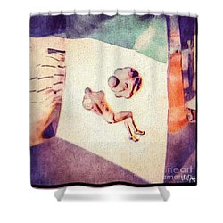 Between The Ears Shower Curtain by William Wyckoff
