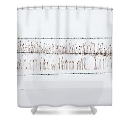 Between The Lines - Shower Curtain