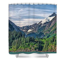 Between The Peaks Shower Curtain