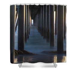 Between The Pillars  Shower Curtain