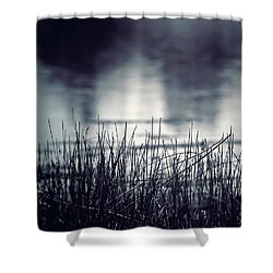 Shower Curtain featuring the photograph Between The Waters by Trish Mistric