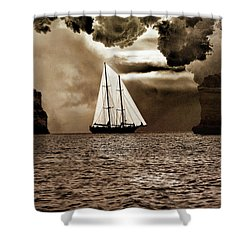 Between Two Rocks Shower Curtain