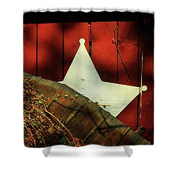 Between Two Worlds Shower Curtain by Rebecca Sherman