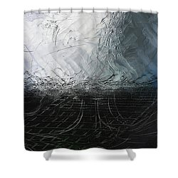 Shower Curtain featuring the digital art Between Us, This Melancholy Sea by Wendy J St Christopher
