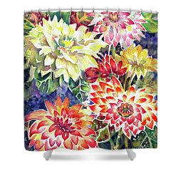 bety's Dahlias Shower Curtain
