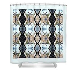 Shower Curtain featuring the digital art Beveled Glass Design by Ellen Barron O'Reilly