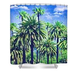 Beverly Hills Palms Shower Curtain