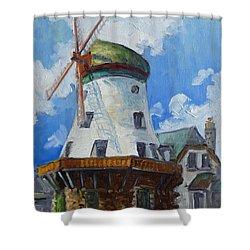 Bevo Mill - St. Louis Shower Curtain by Irek Szelag