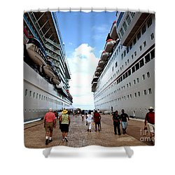 Beween Two Ships Shower Curtain