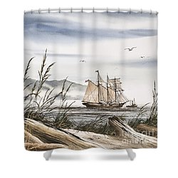 Beyond Driftwood Shores Shower Curtain by James Williamson
