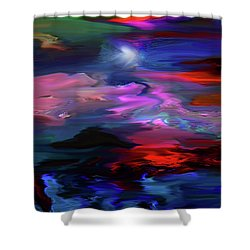 Beyond The Blue Horizon Shower Curtain