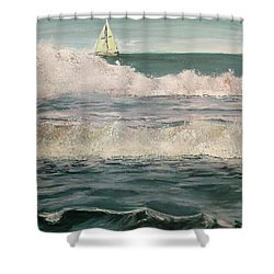 Beyond The Breakers Shower Curtain