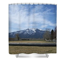 Beyond The Field Shower Curtain by Jewel Hengen