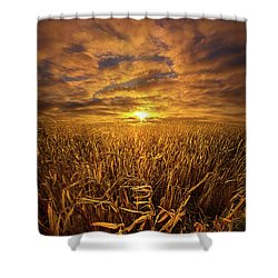 Beyond The Harvest Shower Curtain by Phil Koch