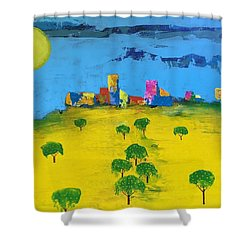 Beyond The Lemon Grove Shower Curtain