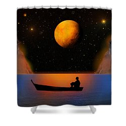 Shower Curtain featuring the photograph Beyond The Stars by Bernd Hau