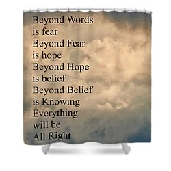 Shower Curtain featuring the painting Beyond Words by Joan Reese
