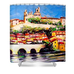 Beziers Reflections Shower Curtain