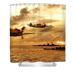 Bf 109 German Ww2 Shower Curtain