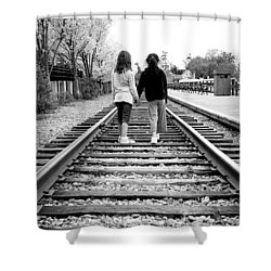 Shower Curtain featuring the photograph Bff's by Greg Fortier