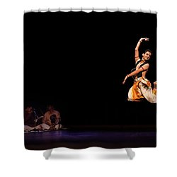 Bharatanatyam Shower Curtain by Marji Lang
