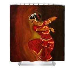 Bharatnatyam Dancer Shower Curtain