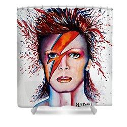 Bi Bi Bowie Shower Curtain