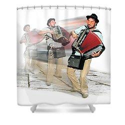 Bi Location Polka Shower Curtain by Marty Garland