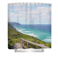 Shower Curtain featuring the photograph Bibbulmun Track Albany Wind Farm by Ivy Ho