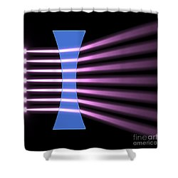 Biconcave Lens 2 Shower Curtain