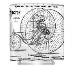Bicycle, 1884 Shower Curtain by Granger